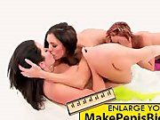 Lesbian three way in white room