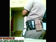 Ebony Police couple Fuck in the office spycam