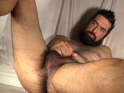 Hairy Beast Hunk Cum and Hole Pumping